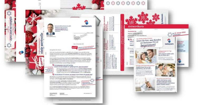 Self-mailer direct Swisscom TV 2.0